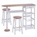 Masa bar cu 2 scaune MDF / bambus