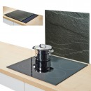 Placa sticla-protectie perete-model Antrazit
