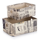 "Set 2 cosuri ""Newspaper"" PVC 32x22x14cm / 36x26x15,5cm"