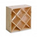 Suport pentru 24 sticle vin,din lemn de pin ,Zeller