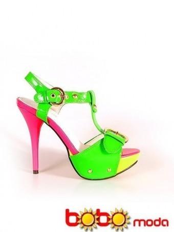 Poze Sandale Dama Bella Green