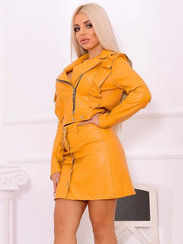 Poze Compleu Leather Italy Mona Mustard