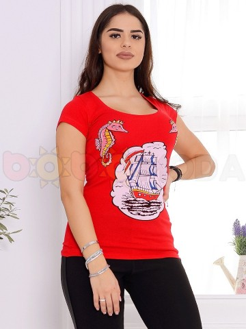 Poze Tricou Dama Teo 9868 Red