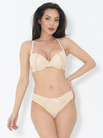 Compleu Sutien Cupa B si Chilot Normal 6635-03