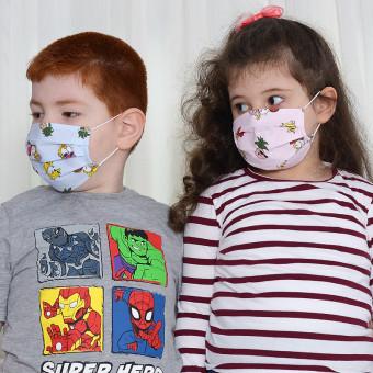 Set 10 Bucati de Masca Faciala pentru Copii 6-12 ani