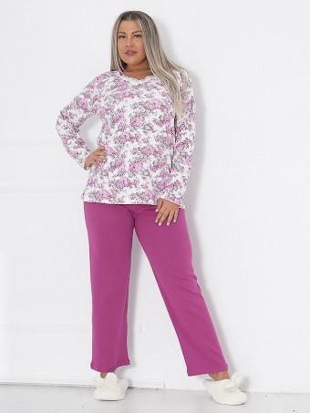 Pijama Dama Masura Mare Floris 03