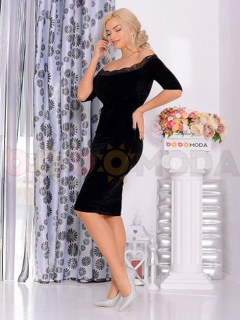 Rochie din Catifea Callie Lady Black