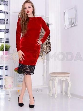 Rochie din Catifea Lovedream Red