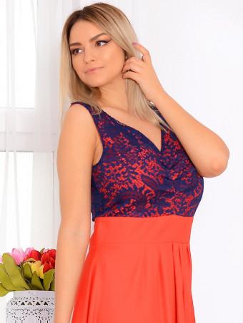 Rochie Lunga De Ocazie Grace Orange 02