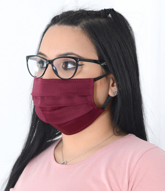 Set 5 Bucati de Masca Faciala Bumbac si TNT Grena