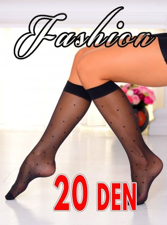 Sosete 3/4 Fashion Dots 20 DEN  Black