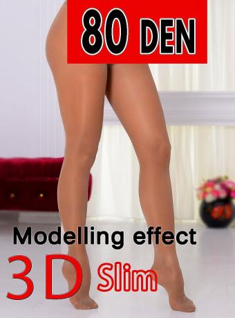 Dres 3D Slim 80 DEN Nude