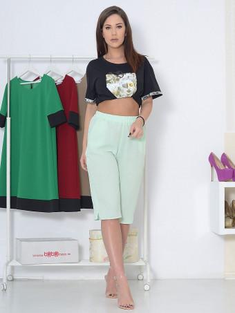 Pantaloni Capri Tina Green