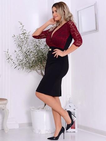 Rochie Eleganta Cerise Black 04