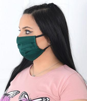 Set 5 Bucati de Masca de Protectie pentru Copii 6-12 Ani Green