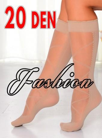 Sosete 3/4 Fashion Rhomb 20 DEN Nude