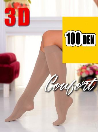 Sosete Comfort 3D 100 DEN Nude