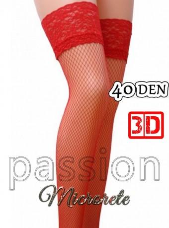 Ciorapi 7/8 Microrette 3D 40 DEN Red