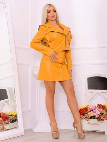 Compleu Leather Italy Mona Mustard