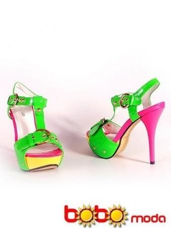 Sandale Dama Bella Green