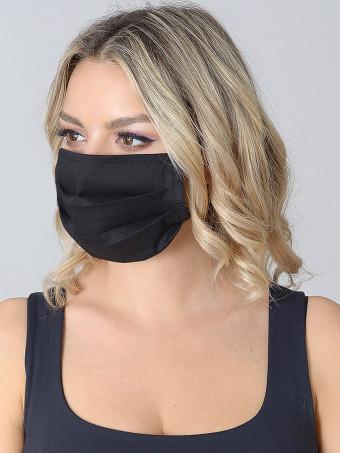 Set 10 Bucati de Masca Faciala Bumbac Negru