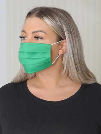 Set 10 Bucati de Masca Faciala Bumbac Verde