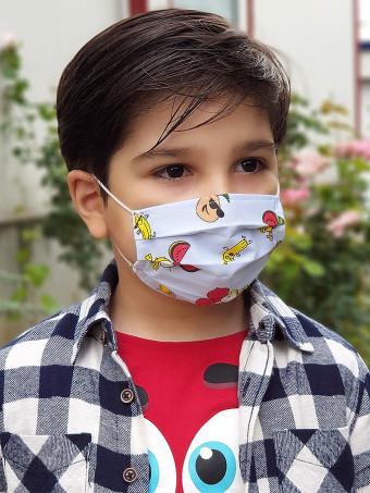 Set 5 Bucati de Masca Faciala pentru Baieti 2-5 Ani