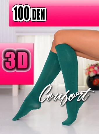 Sosete Comfort 3D 100 DEN Green