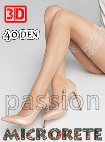 Ciorapi 7/8 Microrette 3D 40 DEN Nude