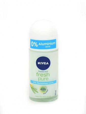 Deodorant antiperspirant roll-on 48h Nivea Fresh pure 4085, 50ml