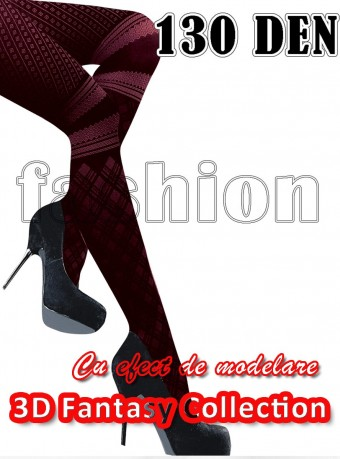Dres 3D Fashion Fantasy 130 DEN  Black-Cherry