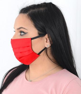 Set 5 Bucati de Masca Faciala Bumbac si TNT Red 2