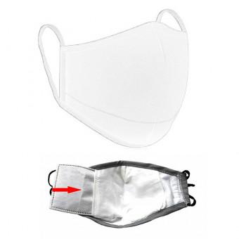 Set de 4 Masti Faciale Reutilizabile si 20 filtre