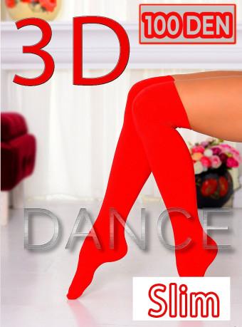 Sosete 5/6 Dance 3D 100 DEN Red