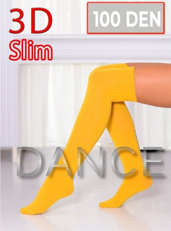 Sosete 5/6 Dance 3D 100 DEN Yellow