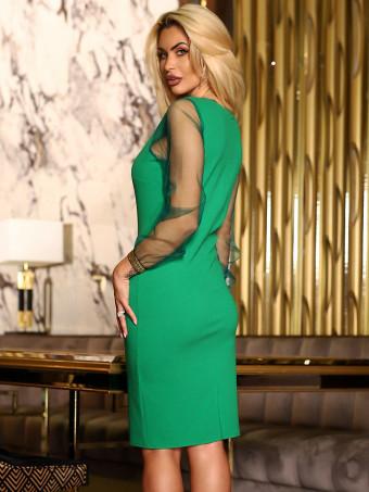 Rochie Melissa Green-Gold
