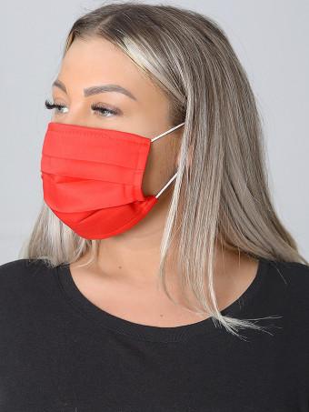 Set 10 Bucati de Masca Faciala Bumbac Red