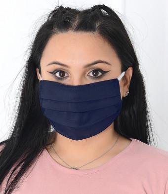 Set 10 Bucati de Masca Faciala Bumbac si TNT Navy