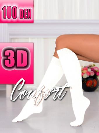 Sosete Comfort 3D 100 DEN White