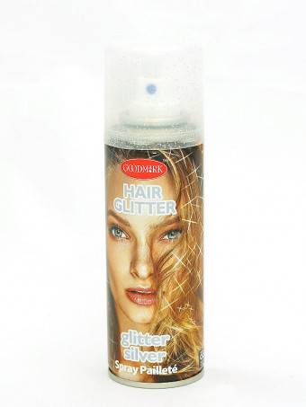 Spray de par cu sclipici 16241 Silver, 125 ml