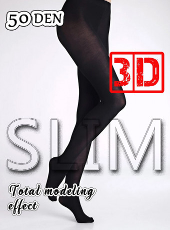 Dres 3D Slim 50 DEN Black