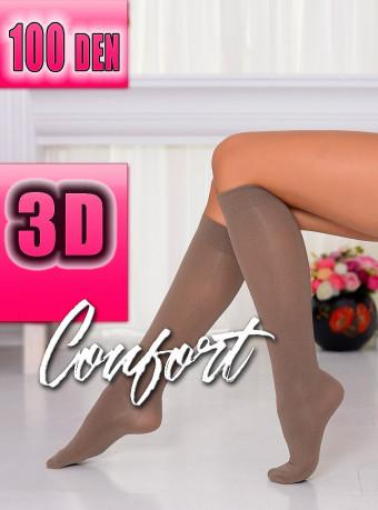 Sosete Comfort 3D 100 DEN Brown