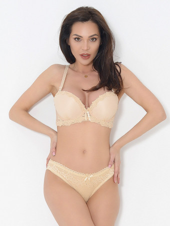 Compleu Sutien Cupa B si Chilot Normal 6640-02