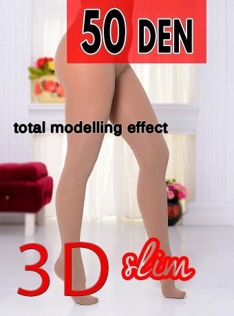 Dres 3D Slim 50 DEN Nude
