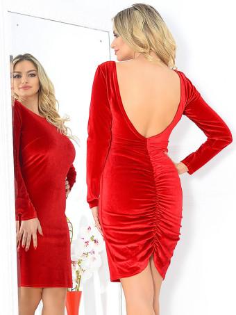 Rochie din Catifea Caprice Red