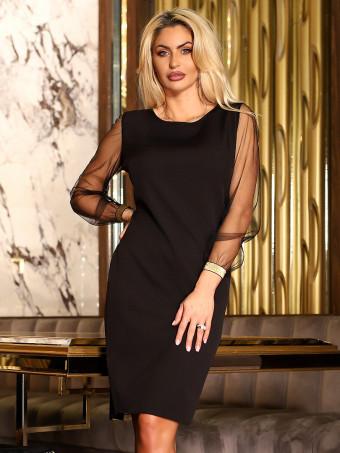 Rochie Melissa Black-Gold