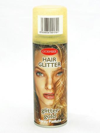 Spray de par cu sclipici 16241 Gold, 125 ml