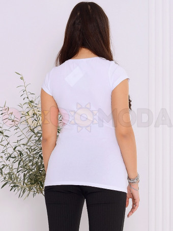 Tricou Dama Teo 9869 White