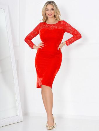 Rochie din Catifea Adora Red 01