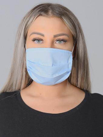 Set 10 Bucati de Masca Faciala Bumbac Bleu